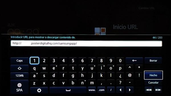 Configurar una pantalla Samsung SoC