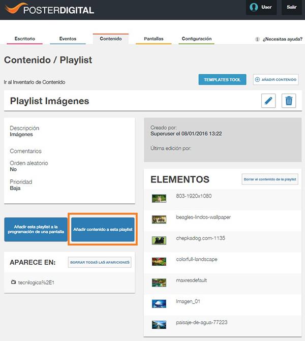 Cómo añadir contenido a una playlist