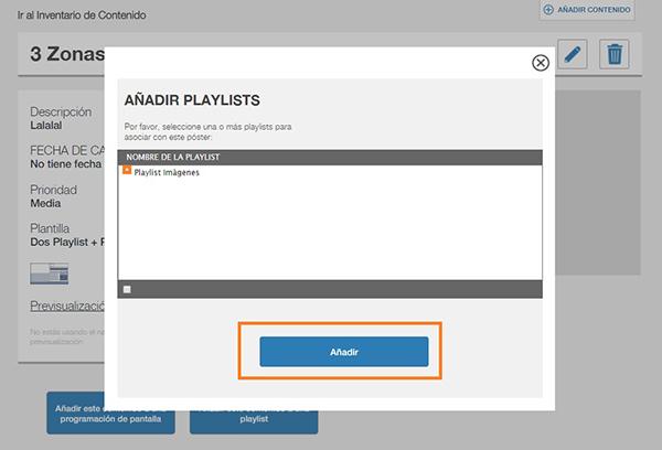 Cómo añadir un fichero a una playlist