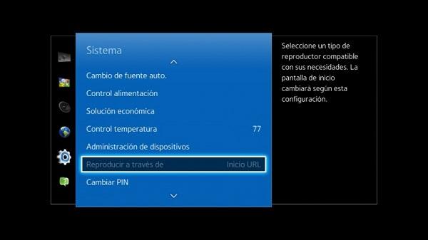 Cambiar configuración de Samsung SoC para configurarlo en PosterDigital