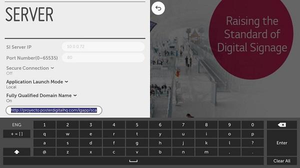 Cambiar de proyecto de PosterDigital en una pantalla LG webOs