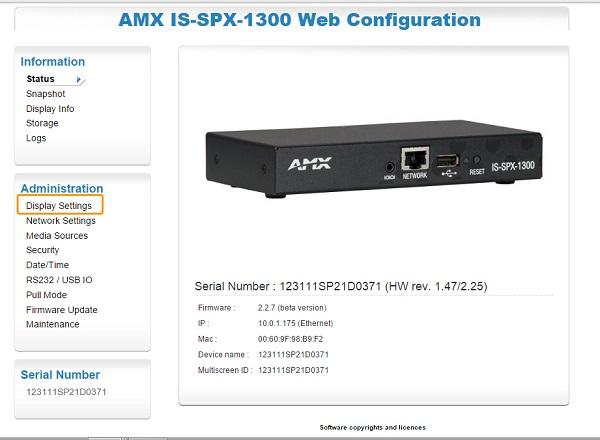 Cómo cambiar la configuración de red de nuestro reproductor AMX