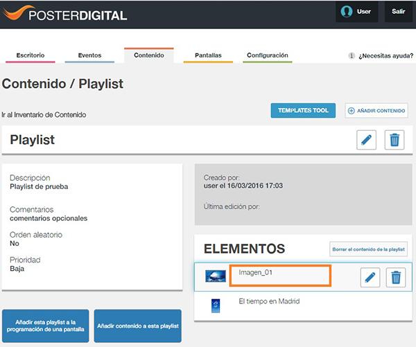 Cómo eliminar contenido de una playlist