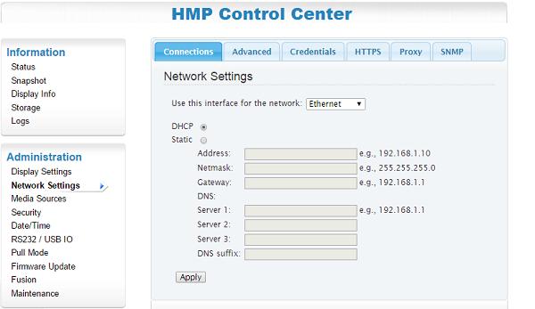 Cómo cambiar la configuración de red de nuestro reproductor SpinetiX