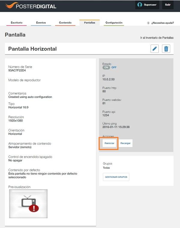 Opciones de control de los Reproductores LG WebOs