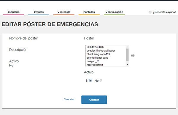 Cómo activar el póster de emergencia