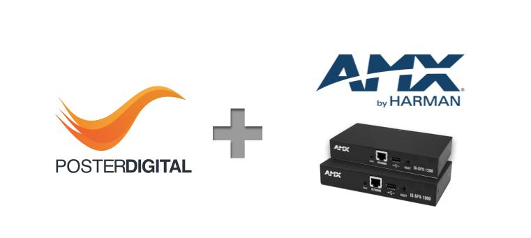 AMX cartelería digital signage PosterDigital